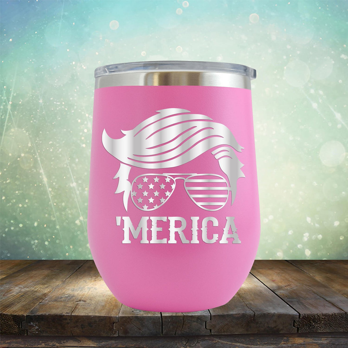 Trump Merica Glasses - Stemless Wine Cup