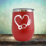 Fish Hook Love - Stemless Wine Cup