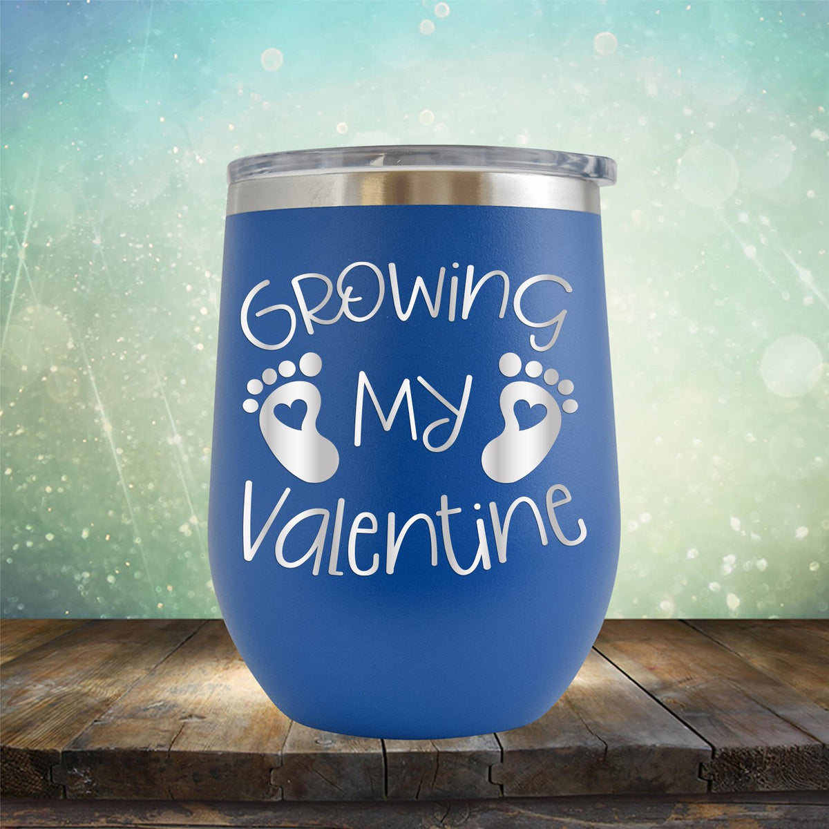 Growing My Valentine - Stemless Wine Cup