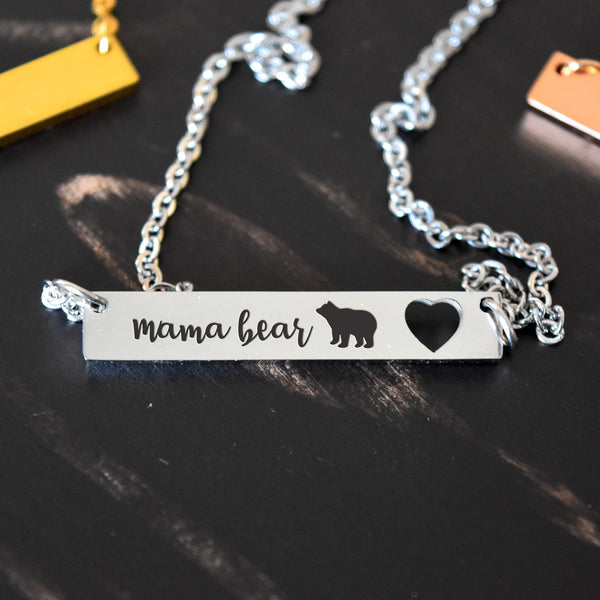 Mama Bear - Engraved Necklace