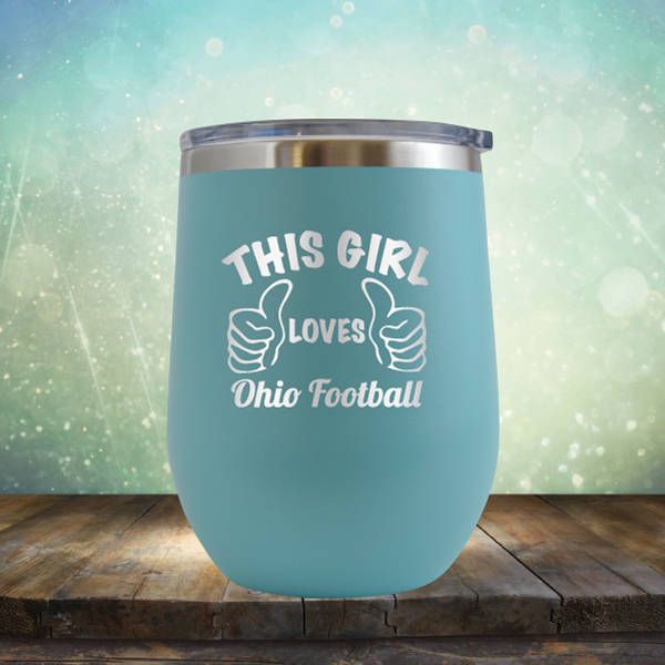 This Girl Loves Ohio Football - Stemless Wine Cup