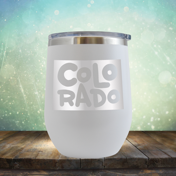 Colorado Outline - Stemless Wine Cup