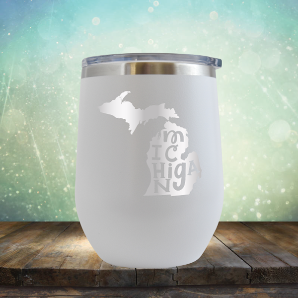 Michigan Outline - Stemless Wine Cup