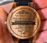 To My Father - Thank You For The Unconditional Love & Support - Wooden Watch