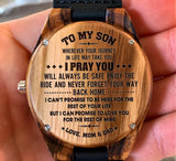 To My Son - I Pray You Will Always Be Safe - Wooden Watch