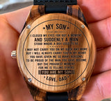 To My Son - The Proudest Moment for Me is Telling Others YOU ARE MY SON - Wooden Watch