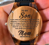 To My Son - If You Need Me, Call Me - Wooden Watch