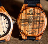 To My Fiance - The Reason for My Happy Moments - Wooden Watch