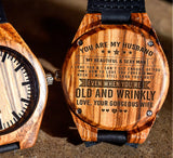 To My Husband - My Beautiful & Sexy Man - Wooden Watch