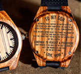To My Son - Continue to Persist & Persevere - Wooden Watch
