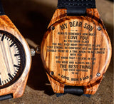 To My Son - Stay Strong, Be Confident Just Do Your Best - Wooden Watch
