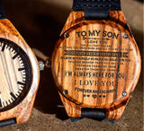 To My Son - I'm Always Here For You. I LOVE YOU FOREVER AND ALWAYS - Wooden Watch