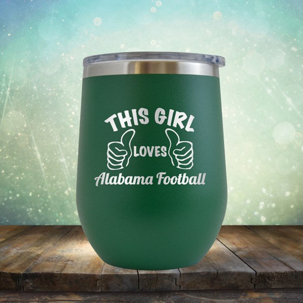 Alabama Football Girl - Wine Tumbler