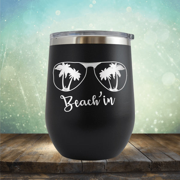 Beachin' Sunglasses - Wine Tumbler