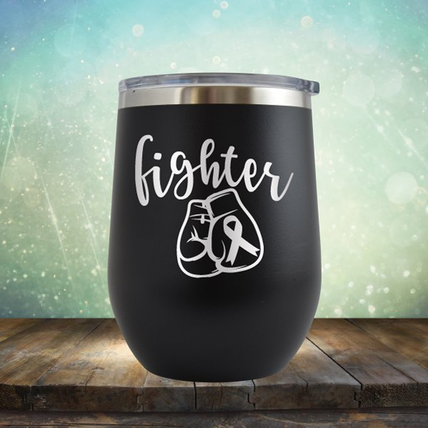 Cancer Fighter - Wine Tumbler