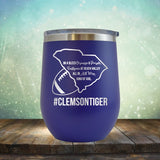Clemson Football Girl - Wine Tumbler