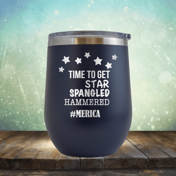 Star Spangled Hammered - Wine Tumbler