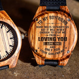To My Boyfriend Love You And Only You - Engraved Zebra Watch