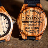 To My Boyfriend Your The Best Thing That's Happened To Me - Engraved Zebra Watch