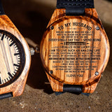 To My Husband - Engraved Zebra Watch