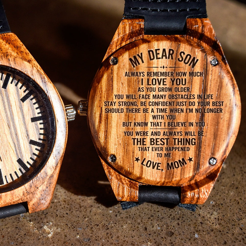 To My Son Your The Best Thing - Engraved Zebra Watch