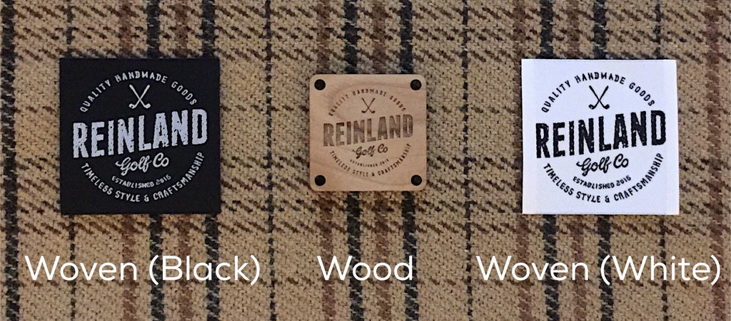 reinland golf co golf headcover labels