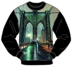 BRIDGE MEN'S LONG SLEEVE CREW SHIRT