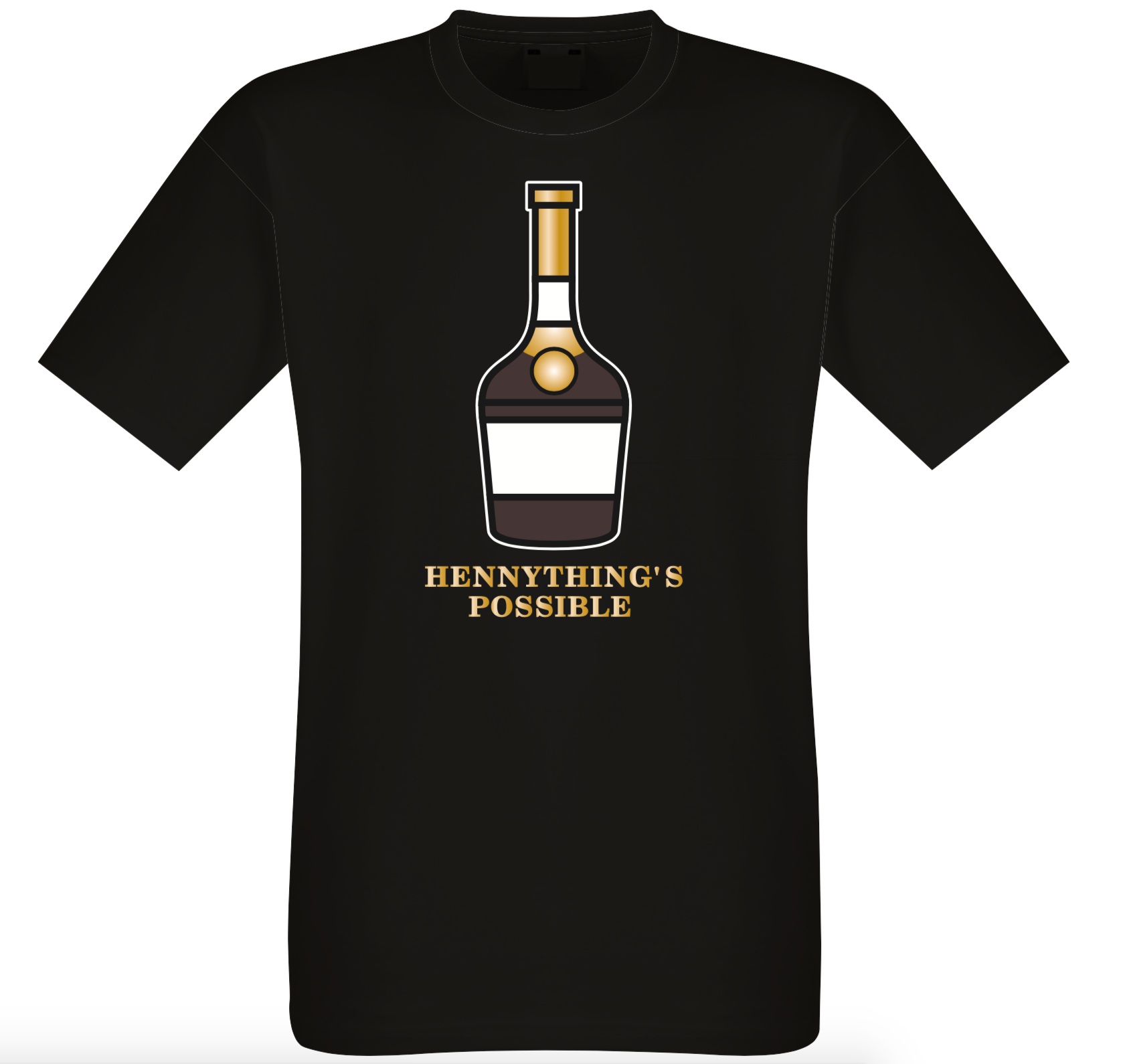 HENNYTHING POSSIBLE ME'S REGULAR FIT COTTON T SHIRT