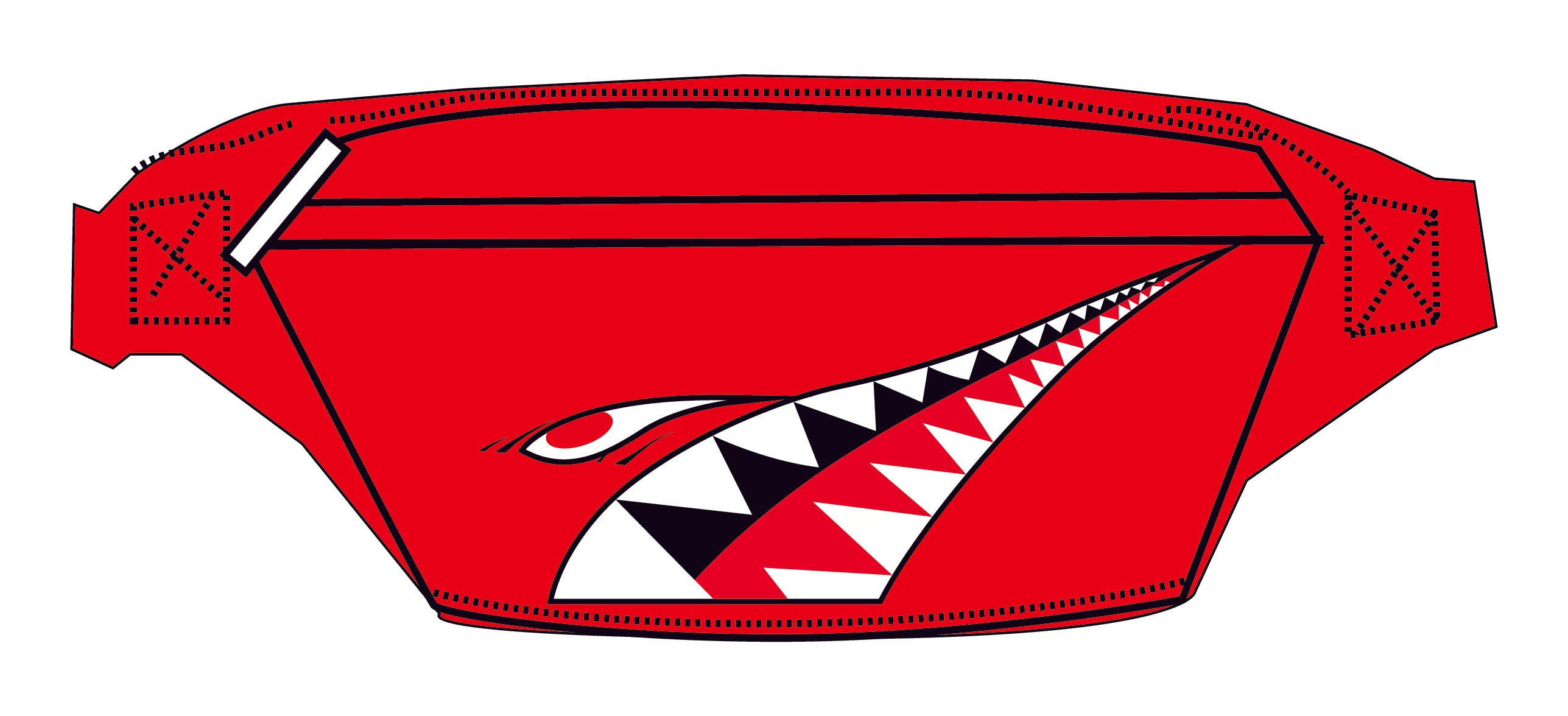 SHARK RED FANNY PACK