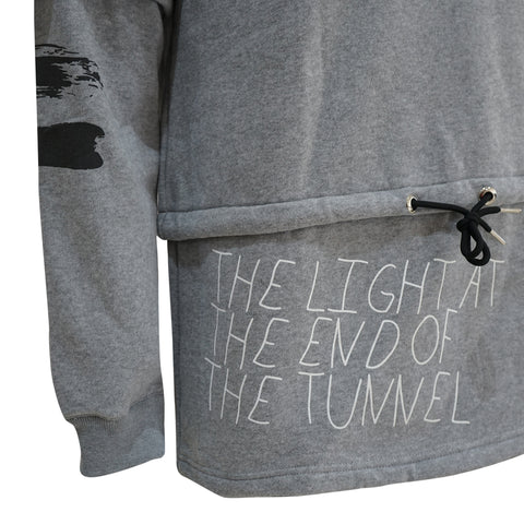 The Light At The End Of The Tunnel - L.E.T - Gray Hoodie