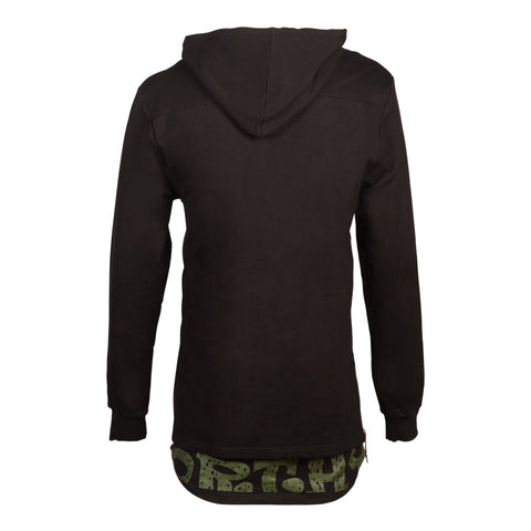 Urban Black/camo Hoodie Comfortable Fit