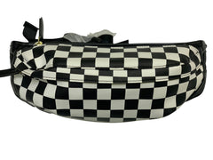 CHECKER WHITE AND BLACK FANNY PACK