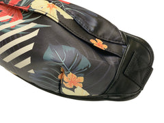 FLORAL FANNY PACK WITH STRAP AND BUCKLE