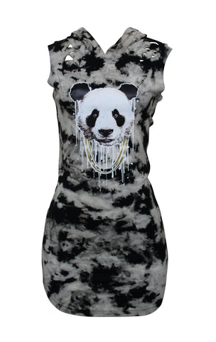 Tye Dye Panda Dress Rip and Tear