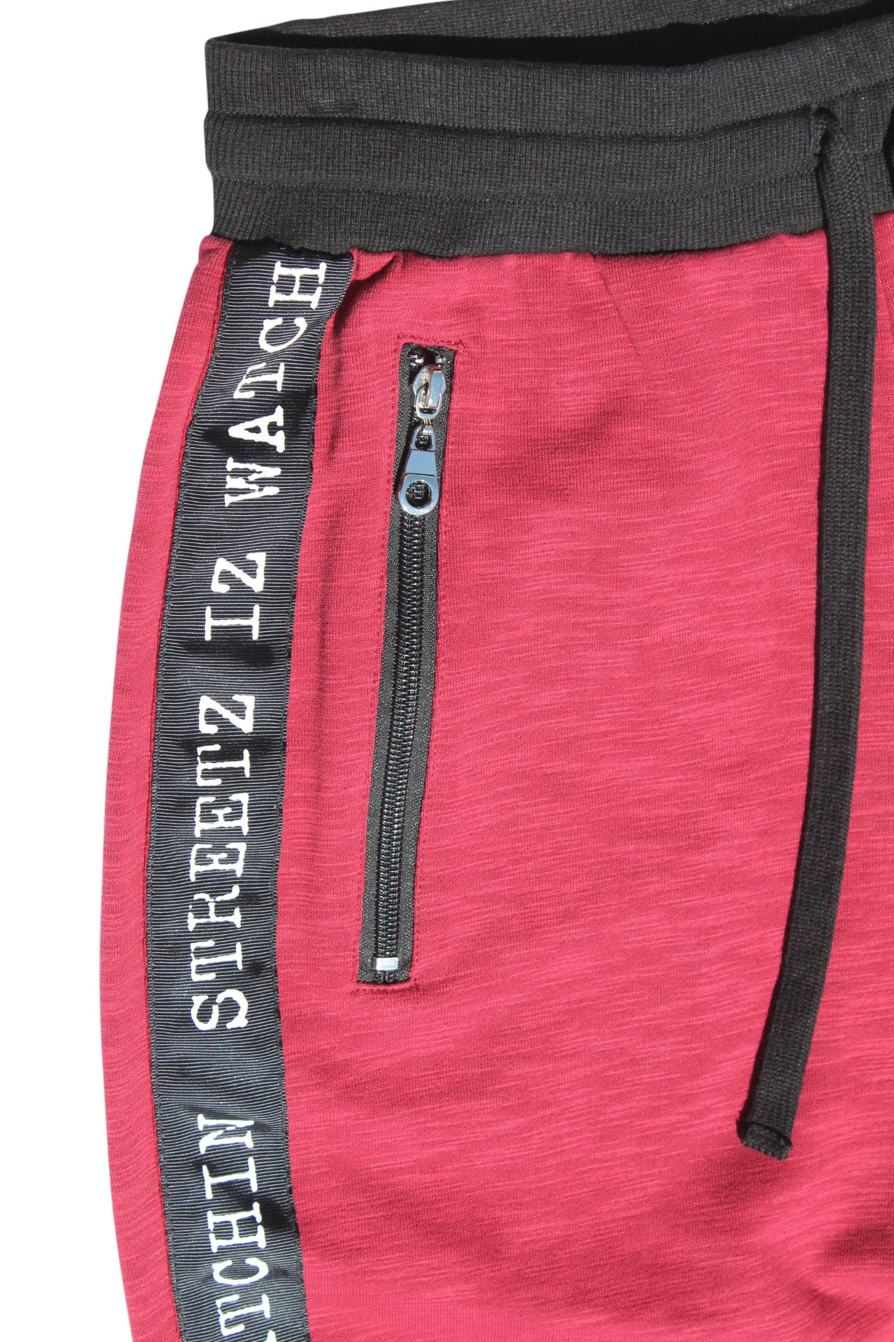 PREMIUM TRACK JOGGERS COMFORTABLE SLIM FIT BURGUNDY
