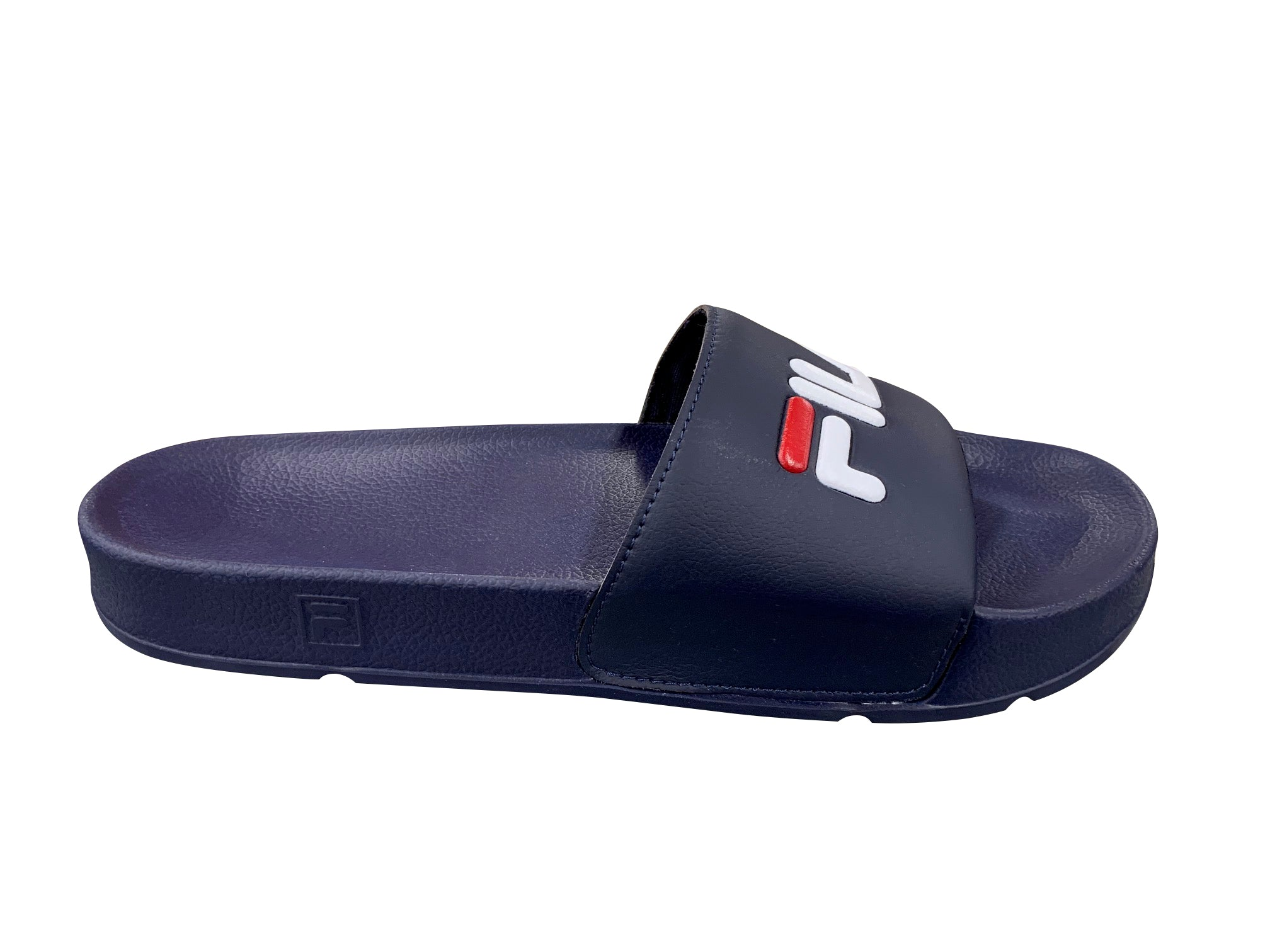 MEN'S NAVY FILA SLIDES