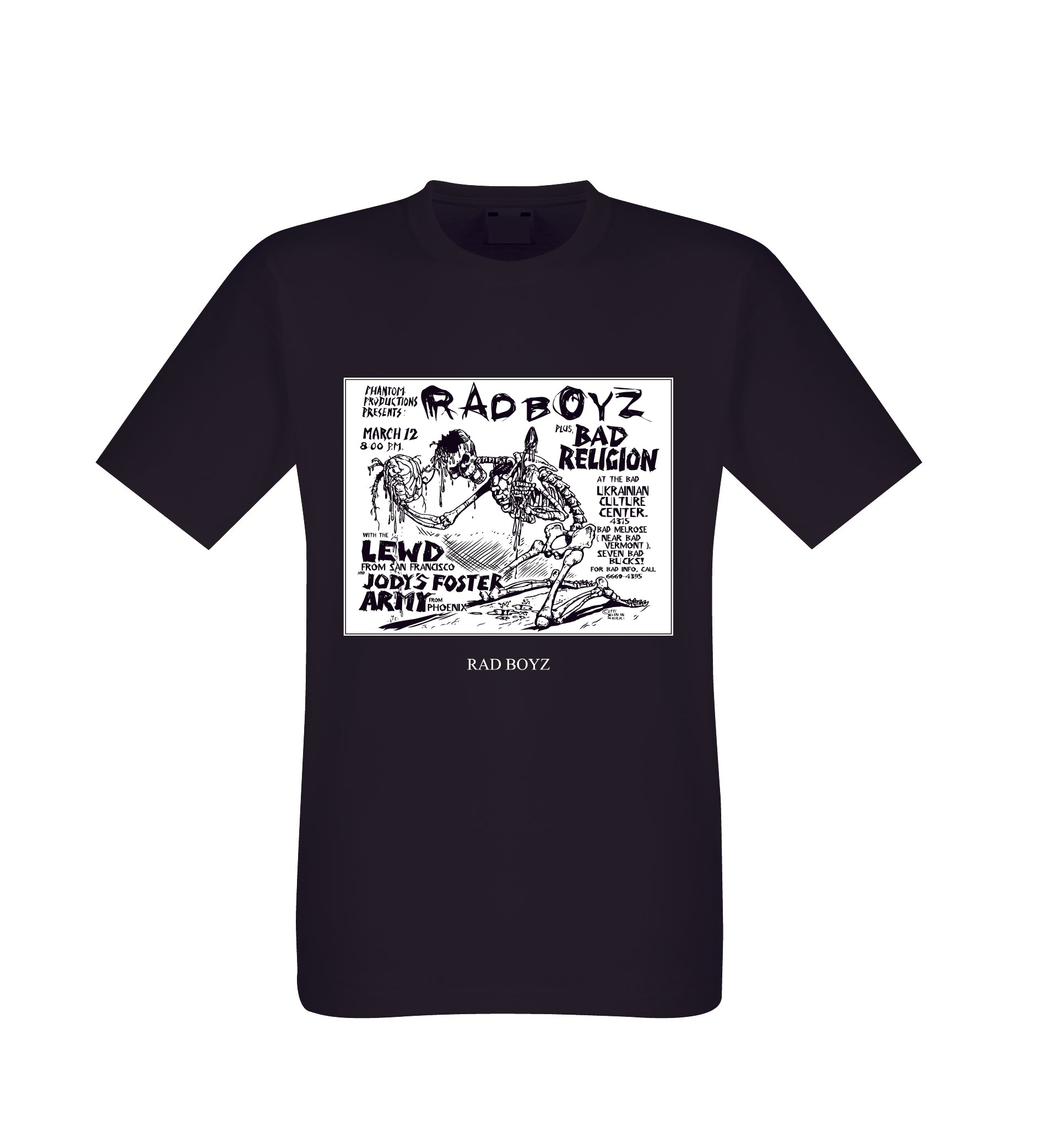 RAD BOYZ BAD RELIGION URBAN WEAR  BLACK