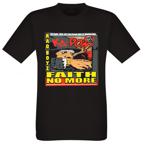 RAD BOYZ FAITH NO MORE BLACK TEE SHIRT
