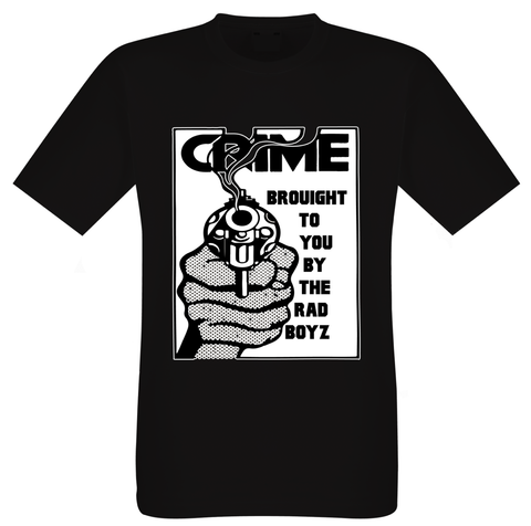 RAD BOYZ CRIME PAYS URBAN WEAR TEE SHIRT BLACK