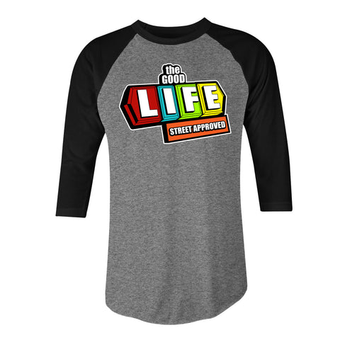 THE GOOD LIFE LONG SLEEVE CREW NECK TEE