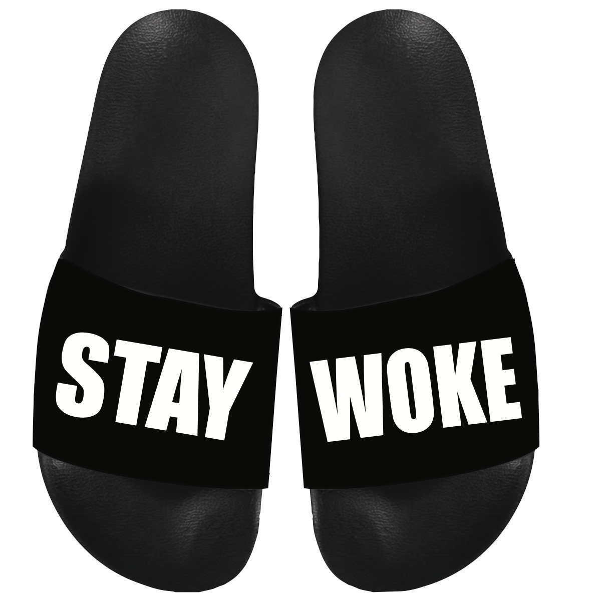 STAY WOKE LIGHT WEIGHT COMFORTABLE SLIDES