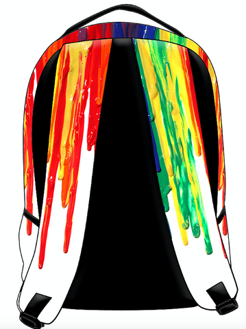 Multi Color Drip Back Pack