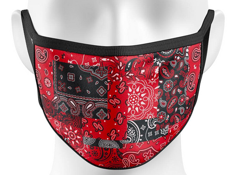 BANDANA LUXURY FACE MASK RED/BLK