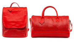 TOTE N CARRY BACK PACK & DUFFLE SETS RED