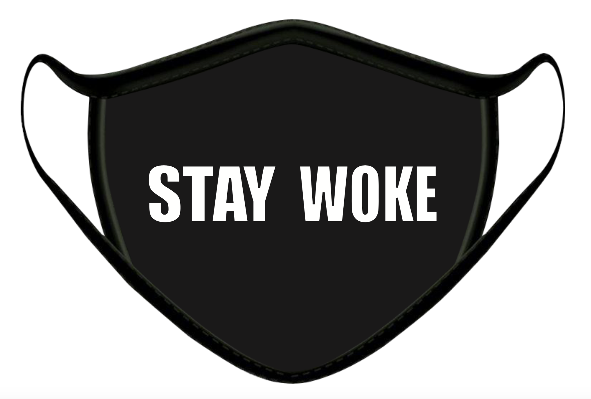 STAY WOKE LUXURY FACE MASK BLACK