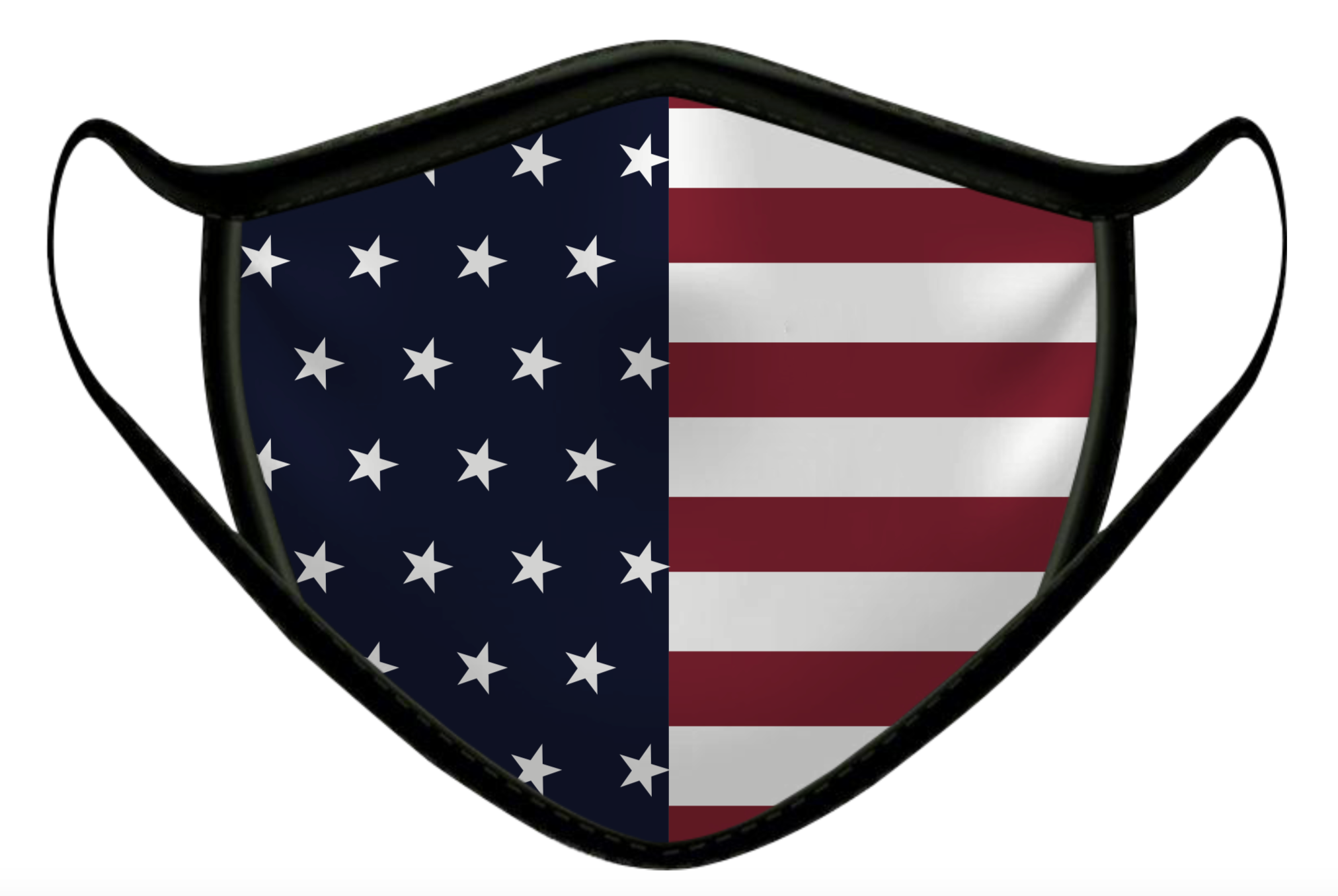 USA FLAG LUXURY FACE MASK BLACK