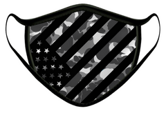 CAMO FLAG LUXURY FACE MASK BLACK
