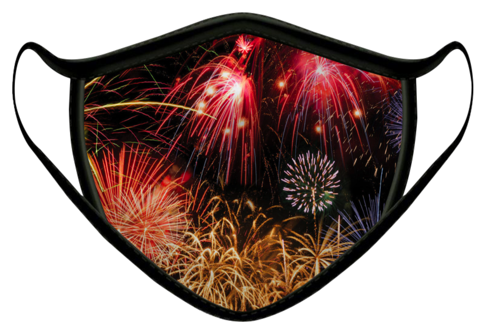 FIRE WORKS LUXURY FACE MASK BLACK