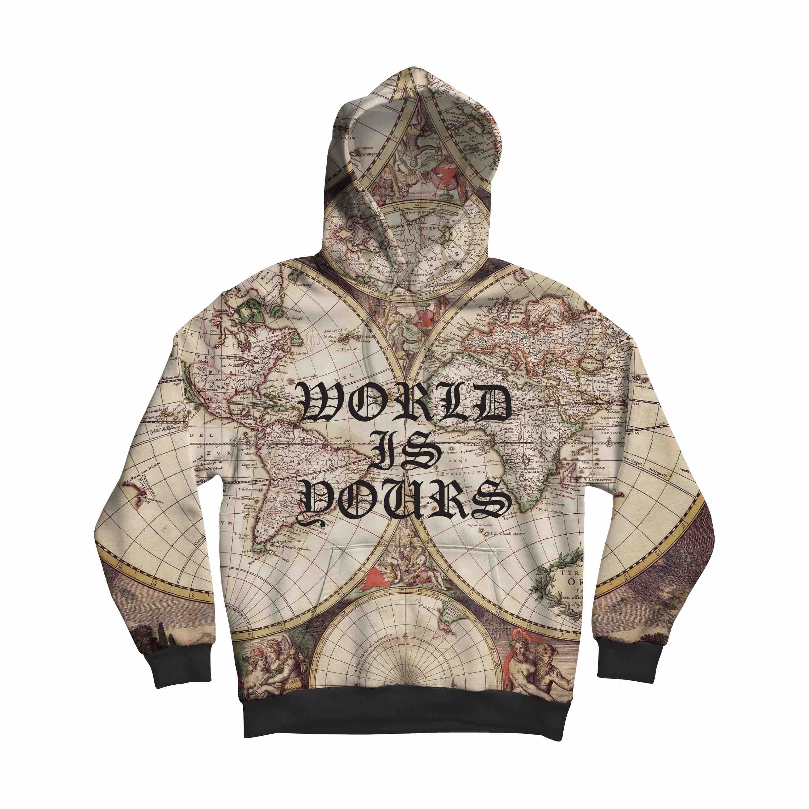 Premium World Is Yours Brown Jacket With Hood