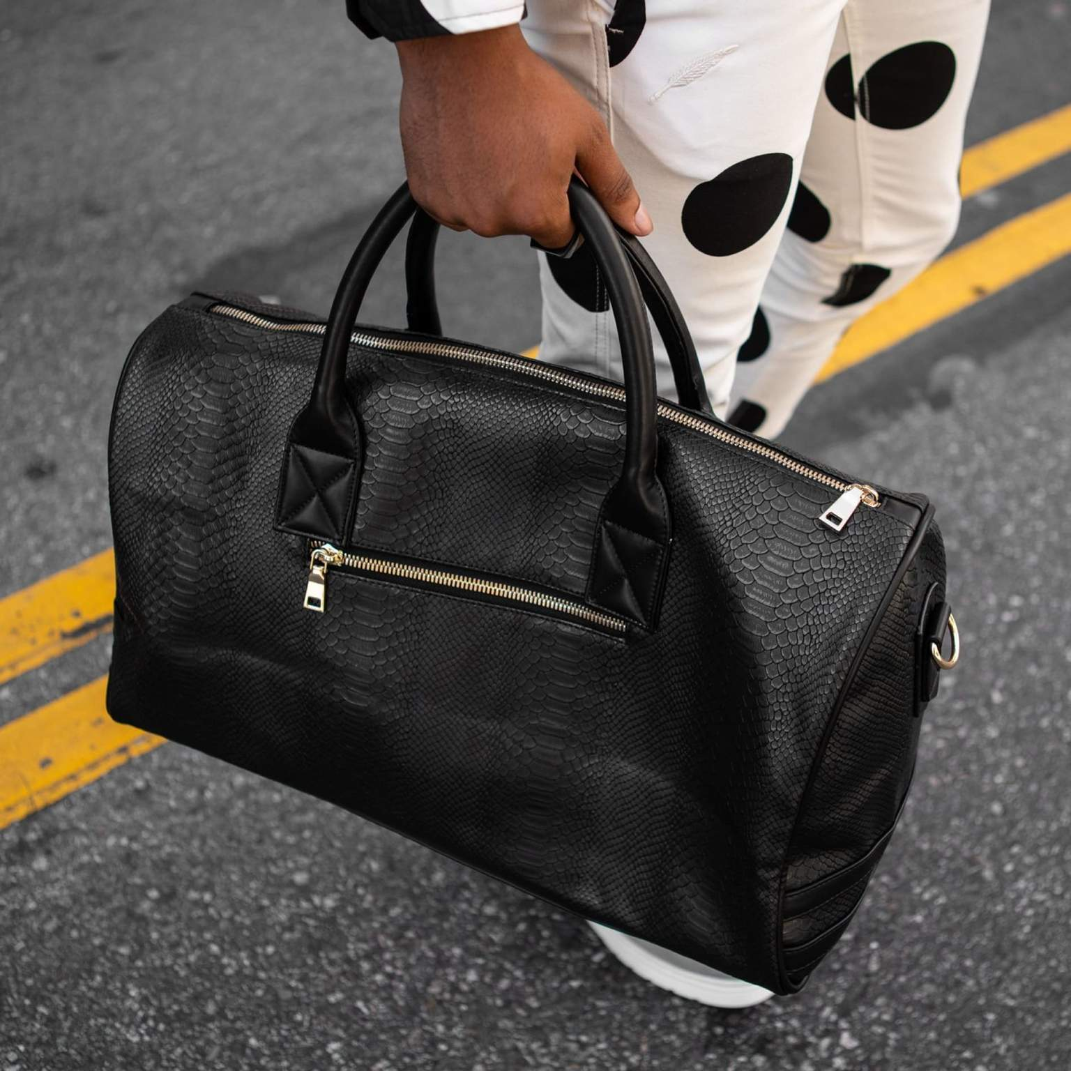 TOTE N CARRY BACK PACK & DUFFLE SETS BLACK